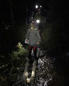 Crossing Battle Creek at Night