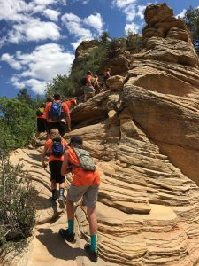 Scouts Hiking Angels Landing