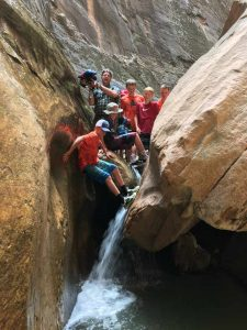 Orderville Canyon Has Lots of Obstacles, Making it Fun for Scouts.