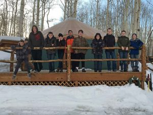 Rent a Yurt for Your Troop. Snowshoe in for a great activity.