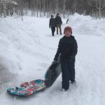 Scouts Love Sledding at Heber Valley Girls Camp
