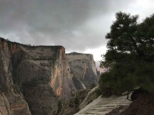 Zion National Park - Cable Mountain and the Great White Throne from Observation Point Trail